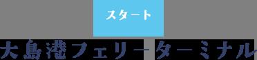 大島港フェリーターミナル スタート